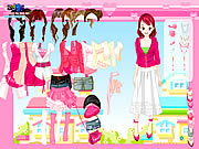 Pink closet dress up